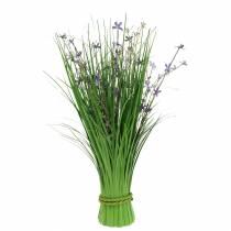 Dekorativ stående bukett med ängblommor konstgjord lila 51 cm