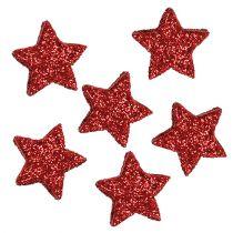 Stjärnglitter 1,5 cm för att sprida röda 144st