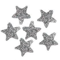 Stjärnglitter 1,5 cm för att strö silver 144st