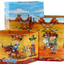 Pennhållare set med cowboy motiv H 6-12cm