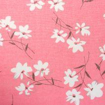 Dekoratörstyg blommar rosa 30 cm x 3m