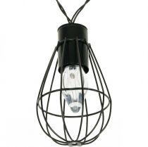 LED solenergiljus trädgårdsdekoration svart 350cm 8LED