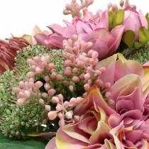 Bukett med dahlior, Protea 25cm