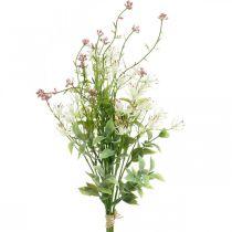 Vårbukett konstgjord rosa, vit, grön konstgjord bukett H43cm