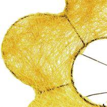 Sisal manschett gul Ø20cm blommanschett 8st