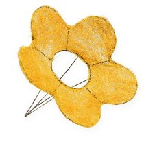 Sisal blomma manschett gul Ø25cm 6st
