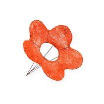 Sisal blommmanchetter orange Ø15cm 10st