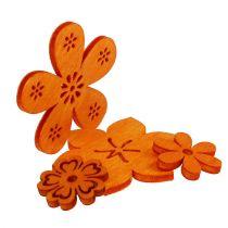 Scatterdekoration träblomma orange 2cm - 4cm 96p
