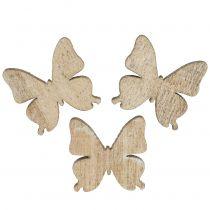 Spridd dekor dekoration fjäril trä natur 2cm 144p
