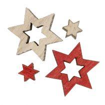 Trästjärnor blandar för att sprida röd, grå 2 cm 96st