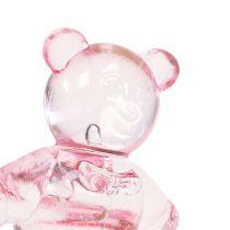 Spridd dekobjörn rosa 3,5 cm 60p