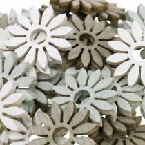 Streudeko blomma brun, ljusgrå, vita träblommor för att sprida 144p