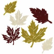 Spridda höstlöv kände bordeaux / grädde / grön 72st