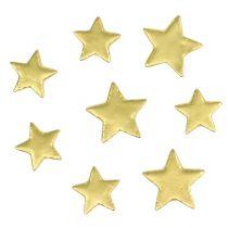 Spridda stjärnor blandar 4-5 cm guldmatt 72st