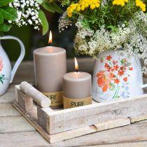 Ren pelare ljus 90/60 naturligt vaxljus hållbar stearin raps ljus dekoration