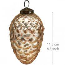 Tallhänge, julgransdekorationer, höstdekoration, äkta glas, antikt utseende Ø7cm H11,5cm 6st