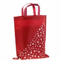 Bärväska röd med stjärnor 38 cm x 46 cm 24 st