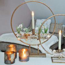 Ljusglas, dekorativ lykta, bordsdekoration antikt utseende Ø9,5cm H10cm 4st