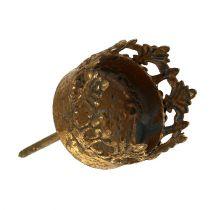 Teallight hållare guld antik Ø3.8cm H9.5cm 1p