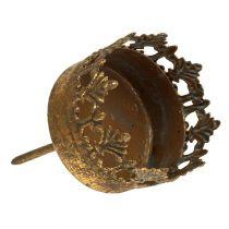 Värmeljushållare guld antik Ø5cm H10cm 1 st