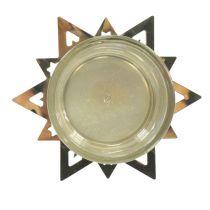 Teallight hållare stjärnguld 23,5 cm 4st