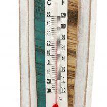 Termometer i träbåtform för att hänga 46 cm 1 st