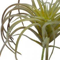 Tillandsia konstgjord att klibba Grönlila konstgjord växt 13cm