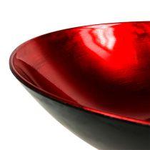 Bordsdekorationsskål röd Ø28cm plast