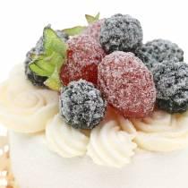 Dekorativ cupcake blackberry matreplik 7cm