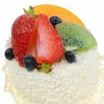 Dekorativ tartlett med frukt jordgubbadummi mat 7cm