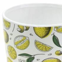 Planter Lemon Yellow Ø8 / 10 / 13cm, set med 3