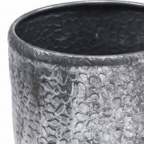 Antik zink silver cachepot Ø22 / 26 / 30cm, set med 3