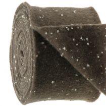 Pottejp filtstejpbrunt med prickar 15cm x 5m
