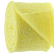 Pottejp filttejp gul med prickar 15cm x 5m