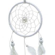 Drömfångare med fjädrar vita 50 cm 2st