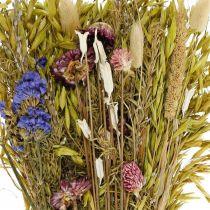 Torkade blommor bukett naturrosa 45cm