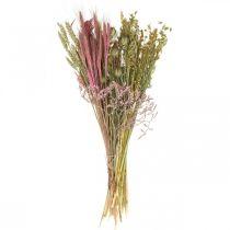 Torkade blommor DIY för bukett rosa torra blommor 60cm