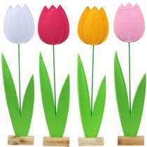 Filt blommatulpan Olika färger H88cm