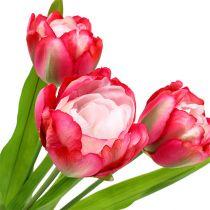 Tulpan konstgjord rosa 60 cm 3st