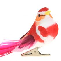 Fågel på klipprosa, rosa 15 cm 12st