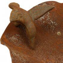 Dekorativt fågelbad, matare i rostfritt stål, antikt fågelbad Ø28cm H74cm