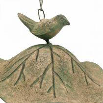 Fågelbad hängande metall fågelbad trädgård antik look H28cm