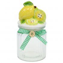 Förvaring burk med lock citron 15,5 cm