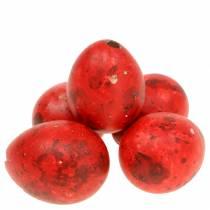 Vaktelägg röda blåst ägg 50p