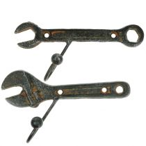 Väggkrokverktyg mörkbrunt 14cm 2st