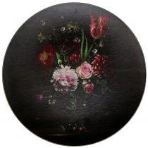 Väggplatta med blommönster Ø33cm