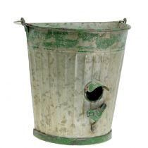 Dekorativt fågelhus för att hänga antikgrön H26cm