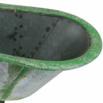 Dekorativ badkarmetall silver, grön 44,5 cm x 18,5 cm x 15,3 cm