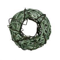 Flätad krans liten grön Ø28cm
