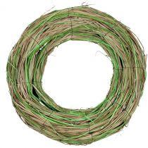 Bastkrans med pil natur / grön Ø40cm